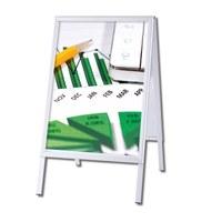 Kundenstopper OUTDOOR Insert format: DIN A1 (594x841 mm) Profile: 32mm mitre - Kundenstopper-Outdoor-Gehrung Neutral