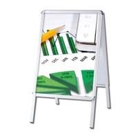 Kundenstopper OUTDOOR Insertion format: DIN A2 (420x594 mm) Profiles: 32mm Rondo - Kundenstopper-Outdoor-Rondo