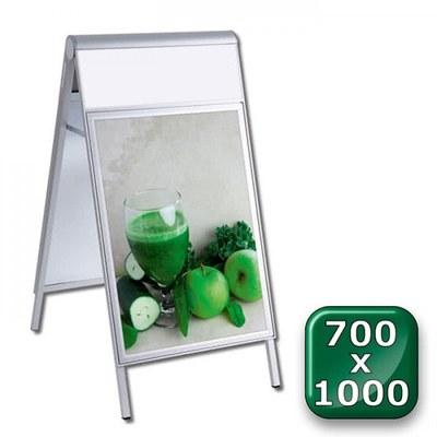 Kundenstopper PREMIUM Topper Einlegeformat: 700x1.000 mm 700x1000 mm - Kundenstopper-Premium-700x1000-Top-unbedruckt