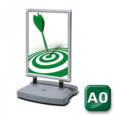 Kundenstopper Swing-Master ECO Einlegeformat: DIN A0 (841x1.189 mm) DIN A0 (841x1189 mm) - swing master eco v20017 silber a0