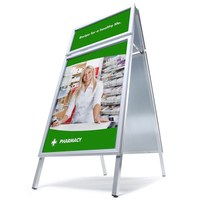 TOPRAHMEN Kundenstopper Insert format: DIN A1 (594x841 mm) Top frame insertion format: 594x297 mm - Kundenstopper  TOPRAHMEN Gehrung start