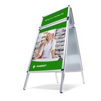 TOPRAHMEN Kundenstopper Insert format: DIN A1 (594x841 mm) Top frame insertion format: 594x297 mm - Kundenstopper  TOPRAHMEN Rondo
