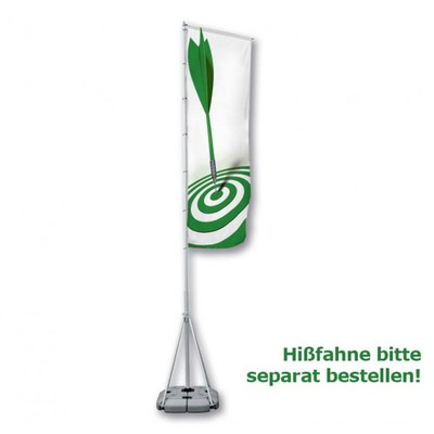 Mobiler Fahnenmast Alu-Teleskopmast bis ca. 5,50 Meter Höhe None - beachflag-mobiler-fahnemast mit text 1