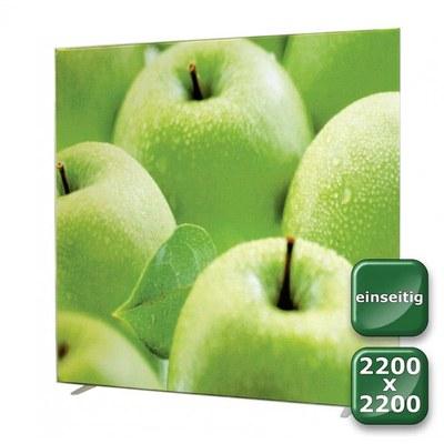 No-Frame Standdisplay Einseitig - Format: 2.200x2.200 mm 2.200x2.200 mm - NOFrame-einseitig-2200x2200