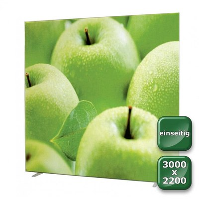 No-Frame Standdisplay Einseitig - Format: 3.000x2.200 mm 3.000x2.200 mm - NOFrame-einseitig-3000x2200
