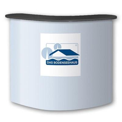 Promotiontheke HARDCASE mit Deckelplatte in SCHWARZ / OHNE Druck stabiler Kunststoff-Korpus mit 4 Einlegeböden - hardcase-theke-druck-schwarz
