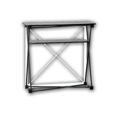 Promotiontheke Pop-Up TEXTIL mit Deckelplatte in SCHWARZ / OHNE Druck - PT-T-S-o-D-PopUp-Textil 2