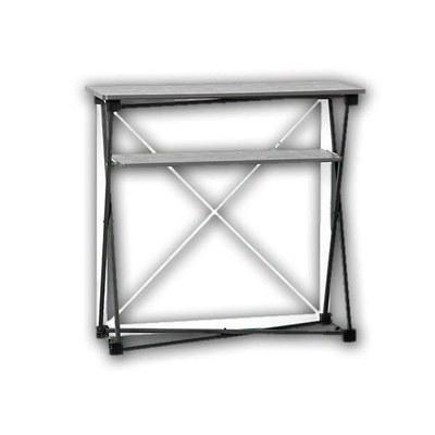 Promotiontheke Pop-Up TEXTIL mit Deckelplatte in SILBER / OHNE Druck - PT-T-SI-o-D-PopUp-Textil 2