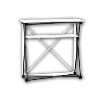 Promotiontheke Pop-Up TEXTIL mit Deckelplatte in WEISS / OHNE Druck - PT-T-W-o-D-PopUp-Textil 2