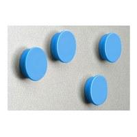 Magnet set = 8 magnets in blue diameter d = 35mm - zubehoer magnete blau