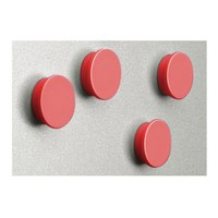 Magnet set = 8 magnets in red diameter d = 35mm - zubehoer magnete rot