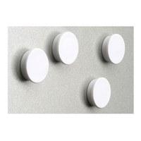 Magnet set = 8 magnets in white diameter d = 35mm - Zubehoer Magnete ws 3