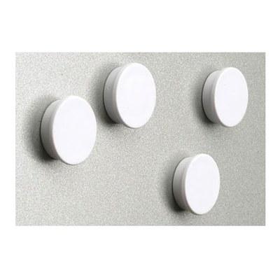 Magnetset  = 8 Magnete in weiß Durchmesser d = 35mm - Zubehoer Magnete ws 3