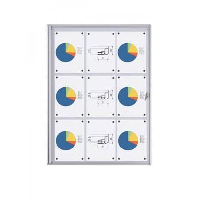Schaukasten ECO BT26 Indoor 3x3 DIN A4 (Außenformat: 711x963mm) 9x DIN A4 - Schaukasten BT26  Indoor 3x3