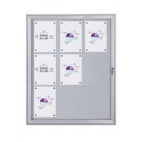 Flat BT23 Indoor/Outdoor cabinets 3x3 DIN A4 (external format: 741x1.004mm) Aluminium housing and frame - Schaukasten FLAT BT23 Indoor Outdoor 3x3