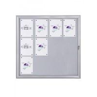 Flat BT23 Indoor/Outdoor cabinets 4x3 DIN A4 (external format: 961x1.004mm) Aluminium housing and frame - Schaukasten FLAT BT23 Indoor Outdoor 4x3