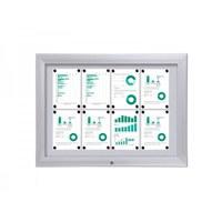 Display case Premium BT46 Outdoor 4x2 DIN A4 (external format: 1,025x760mm) Aluminium housing and frame - Schaukasten PREMIUM BT46 Outdoor Quer 4x2