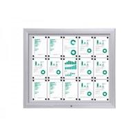 Display case Premium BT46 Outdoor 5x3 DIN A4 (external format: 1,245x1,067mm) Aluminium housing and frame - Schaukasten PREMIUM BT46 Outdoor Quer 5x3