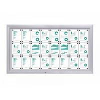 Display case Premium BT46 Outdoor 8x3 DIN A4 (external format: 1,905 x 1,067mm) Aluminium housing and frame - schaukasten premium bt46 outdoor quer 8x3