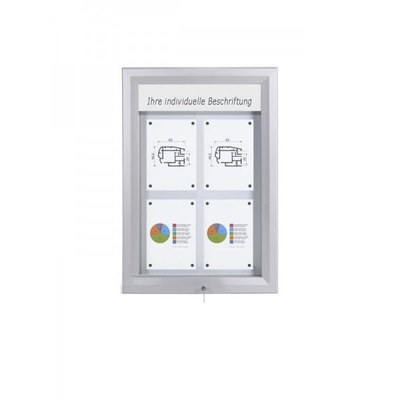 Schaukasten Premium BT46 Outdoor LED 2x2 DIN A4 (Außenformat: 585x760mm) 4x DIN A4 - Schaukasten PREMIUM LED BT46 Outdoor 2x2