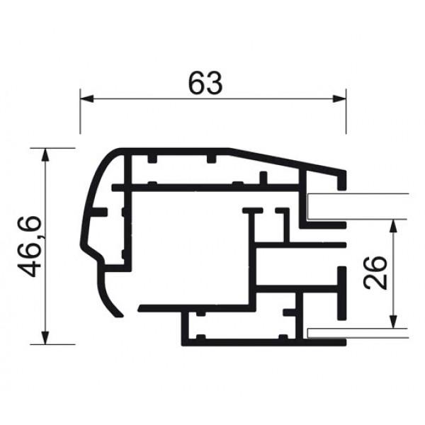 schaukasten premium led bt46 outdoor detail profilquerschnitt