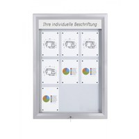 Premium BT46 Outdoor LED cabinets 3x3 DIN A4 (external format: 805x1.117mm) Aluminium housing and frame - Schaukasten PREMIUM LED BT46 Outdoor 3x3