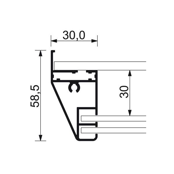 schaukasten schiebet r bt58 indoor detail profilquerschnitt