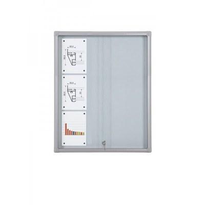 Schaukasten Schiebetür BT58 Indoor 3x3 DIN A4 (Außenformat: 720x982mm) 9x DIN A4 - Schaukasten Schiebet r BT58 Indoor 3x3