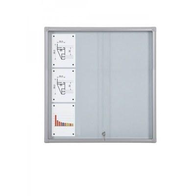 Schaukasten Schiebetür BT58 Indoor 4x3 DIN A4 (Außenformat: 940x982mm) 12x DIN A4 - Schaukasten Schiebet r BT58 Indoor 4x3