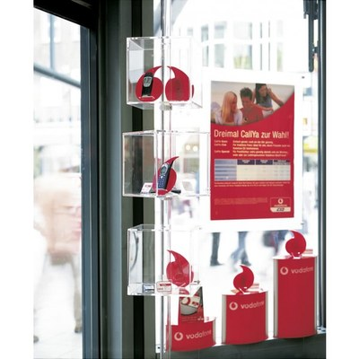 Shopsystem Mobilfunk Vodafone Individuelle Ausführung & Format None - Shop-Displays-Drehw rfeldisplay
