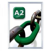 Slide-in insert frame Insertion format: DIN A2 (420x594 mm) Profile: 24 mm - silver anodised - slide Inn A2 25er Gehrung