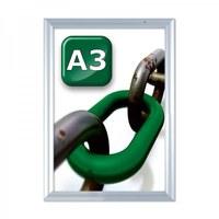 Slide-in insert frame Insertion format: DIN A3 (297x420 mm) Profile: 24 mm - silver anodised - Slide Inn Rahmen Wand A3