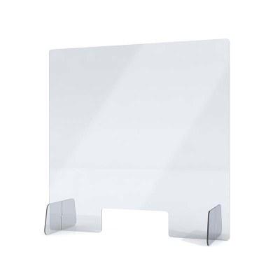 """Acrylschutzwand als Spuckschutz Aufsteller Grösse """"L"""" Format 650x650x250 mm glasklares Acrylglas XT in 4mm Materialstärke - Spuckschutz Aufsteller L"""