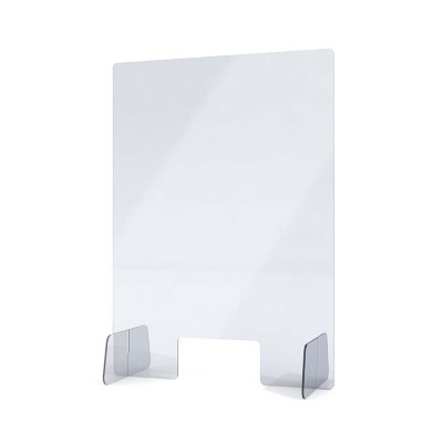 """Spuckschutz aus Acrylglas / Aufsteller Größe """"M"""" Hochformat 500x750x250 mm - 4mm Materialstärke glasklares Acrylglas XT - Spuckschutz Aufsteller M"""