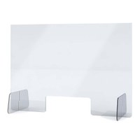 """Acrylic protective wall as spit protection Stand size """"XL"""" Format 1.000x600x250 mm crystal clear acrylic glass XT in 4mm material thickness - Spuckschutz Aufsteller XL"""