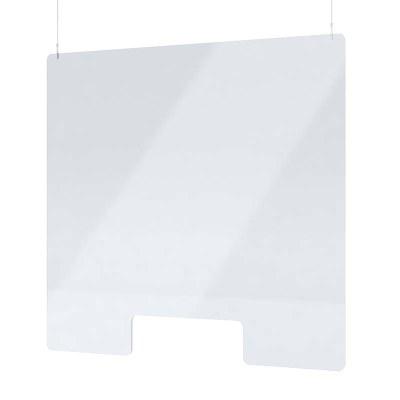 """Acrylschutzwand als Spuckschutz Deckenhänger Grösse """"L"""" Format 1.000x1.000 mm glasklares Acrylglas XT in 4mm - Spuckschutz Deckenhänger L"""