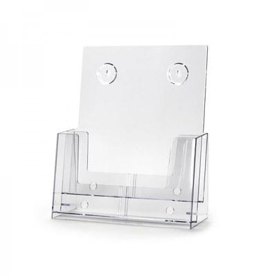 Tischständer - Mehrfach Einlegeformat: DIN A4 (210x297 mm) Anzahl Fächer: 2 (hintereinander) - Dispenser-DIN-A4-2-fach-SEP01