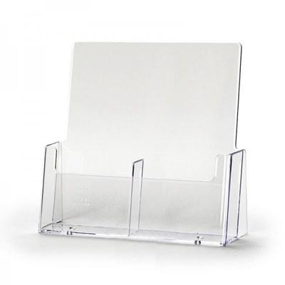 Tischständer - Mehrfach Einlegeformat: Lang-DIN (105x210 mm) Anzahl Fächer: 2 (nebeneinander) - dispenser-lang-din-2c112