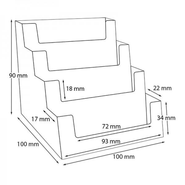 Dispenser-Visitenkarten-4-fach-Querformat-PRO156-Zeichnung