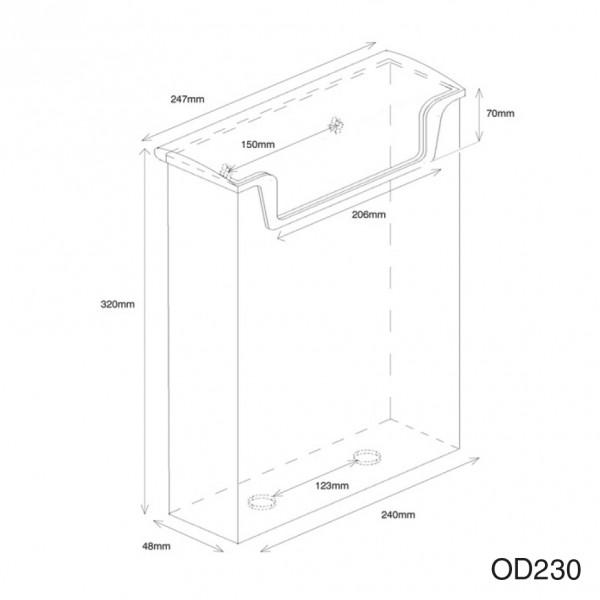 Dispenser-DIN-A4-wasserabweisend-OD230-zeichnung