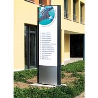 Outdoor advertising pylons Individual design & format Illumination: either LED or tube - aussenwerbung-werbepylon-800x2500mm