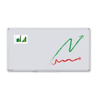 Whiteboard ECO for wall mounting External format: 1,800x900x15 mm (WxHxD) Viewing format: 1,766x866 mm (BXH) - Whiteboard-ECO_1800x900_Übersicht