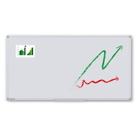 Whiteboard ECO for wall mounting External format: 2,000x1,000x15 mm (WxHxD) Visual format: 1,966x966 mm (BXH) - Whiteboard-ECO_2000x1000_Übersicht