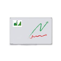 Whiteboard PREMIUM for wall mounting External format: 1,200x900x15 mm (WxHxD) Visual format: 1,166x866 mm (WxH) - Whiteboard-ECO-1200x900_Übersicht
