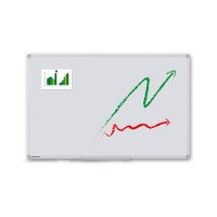 Whiteboard PREMIUM for wall mounting External format: 1,500x1,000x15 mm (WxHxD) Visual format: 1,466x966 mm (WxH) - Whiteboard-ECO_1500x1000_Übersicht