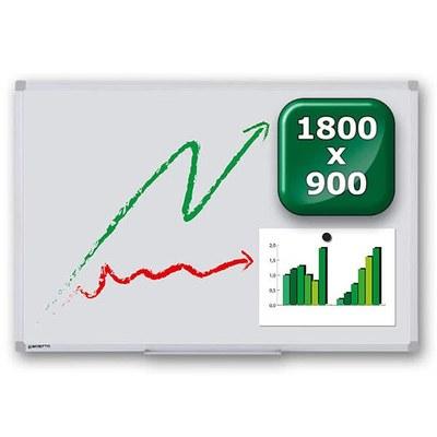 Whiteboard PREMIUM zur Wandmontage Außenformat: 1.800x900x15 mm (BxHxT) 1.800x900x15 mm - whiteboard-premium-1800x900