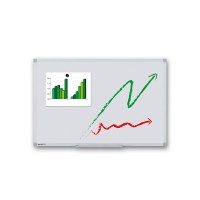 Whiteboard PREMIUM for wall mounting External size: 600x450mm (W/H) visible format: 566x416 mm (WxH) - Whiteboard-ECO_600x450_Übersicht