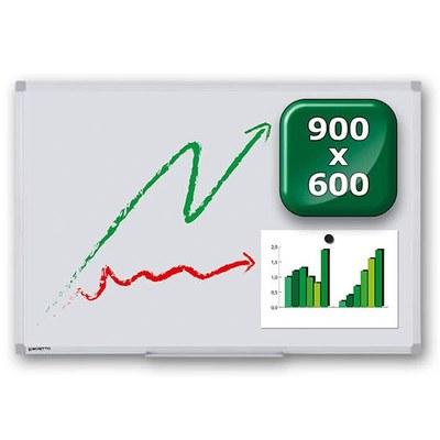 Whiteboard PREMIUM zur Wandmontage Außenformat: 900x600mm (B/H) 900x600x15 mm - whiteboard-premium-900x600